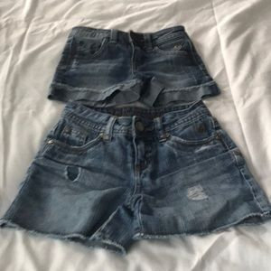 2 prs. of Girls Justice jean shorts
